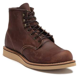 Red Wing Shoes 6 Inch Round Toe Leather Lace-Up Boot - Factory Second - Wide Width Available