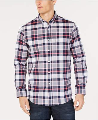 Club Room Men's Plaid Stretch Shirt, Created for Macy's