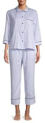 Kate Spade Mini Hearts Pinstriped Pyjama Set