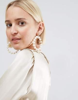 Asos Pearl Hoop Earrings