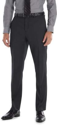 Marc Anthony Men's Slim-Fit Wool Black Flat-Front Suit Pants