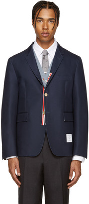 Thom Browne Navy Unconstructed Classic Blazer $1,490 thestylecure.com