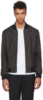 Fendi Black and Off-White Bag Bugs Jacket
