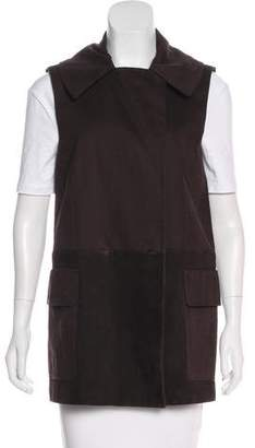 Alexander Wang Leather and Suede Trim Vest