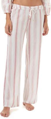 Melissa Odabash Krissy Striped Cotton Coverup Pants