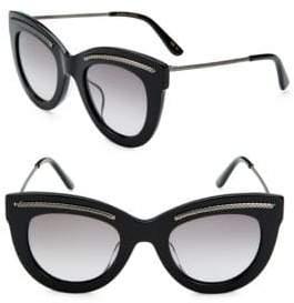 Bottega Veneta 49MM Etched Cat-Eye Sunglasses