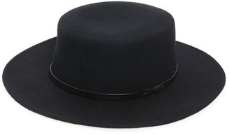 Women's Sole Society Wool Boater Hat - Black $44.95 thestylecure.com