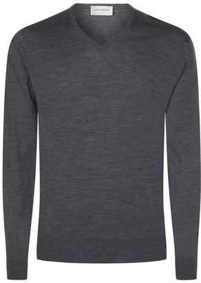 John Smedley Merino Wool V-Neck Sweater