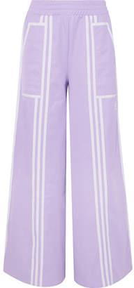 adidas + Ji Won Choi Striped Cotton-blend Jersey Wide-leg Track Pants - 25dce322a6537