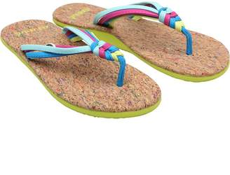 Animal Womens Summer Flip Flops Multicolour