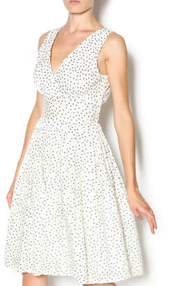Aryeh Ivory Gold Bow Dress