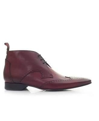Jeffery West Black Line Escobar Wingtip Leather Boots