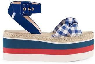 Gucci Patent leather platform sandal