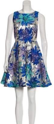 Alice + Olivia A-Line Jacquard Dress