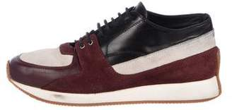 2a7ea88666 Kris Van Assche Suede-Trimmed Low-Top Sneakers