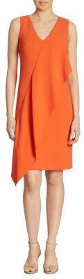 Ralph Lauren Collection Lucianna Draped V-Neck Dress