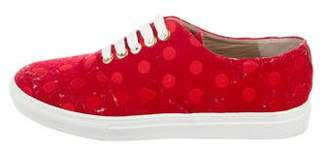 The Office of Angela Scott Polka Dot Low-Top Sneakers