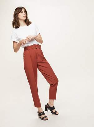 Miss Selfridge Belted paperbag trousers