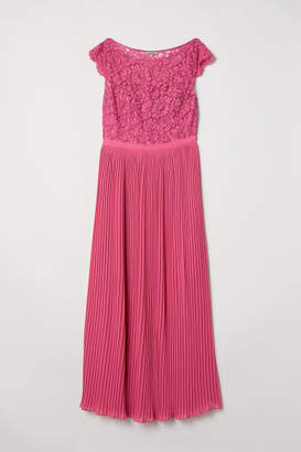 H&M H&M+ Chiffon Dress - Pink