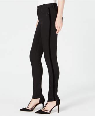 INC International Concepts I.n.c. High-Rise Velvet-Stripe Skinny Jeans