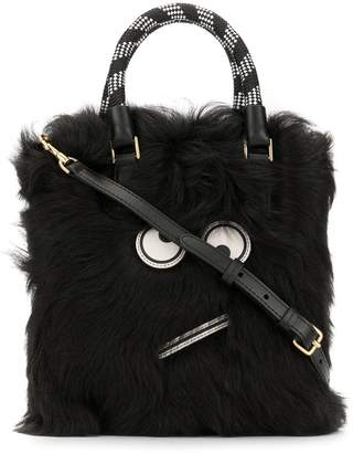 Anya Hindmarch Amused Face fur tote