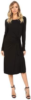 Three Dots Whitney B. - Long Sleeve Twist Dress Women's Dress