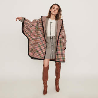 Maje Reversible poncho coat