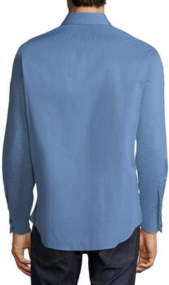 Thomas Dean Men's Woven C3 Tech Long Sleeve Shirt