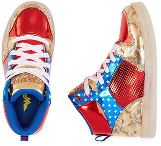 WARNER BROS Warner Bros Wonder Woman Light-Up Girls Sneakers - Little Kids/Big Kids