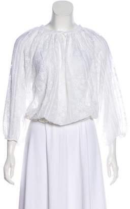 Melissa Odabash Long Sleeve Embroidered Top