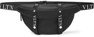 Valentino Leather-Trimmed Shell Belt Bag