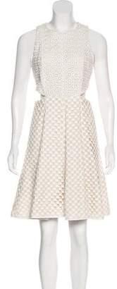 Tibi Crochet Knee-Length Dress