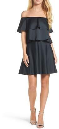 Eliza J Off the Shoulder Popover Dress