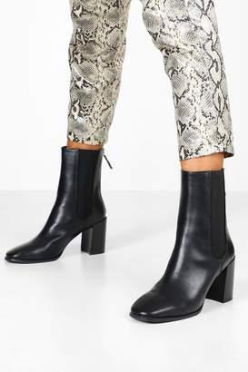 boohoo Elastic Panel Sock Boots