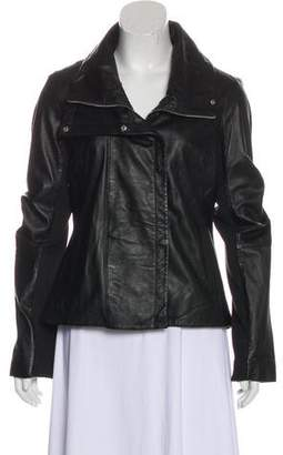 Dawn Levy Leather Zip-Up Jacket