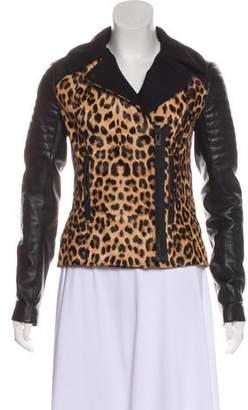 A.L.C. Leather Animal Print Jacket