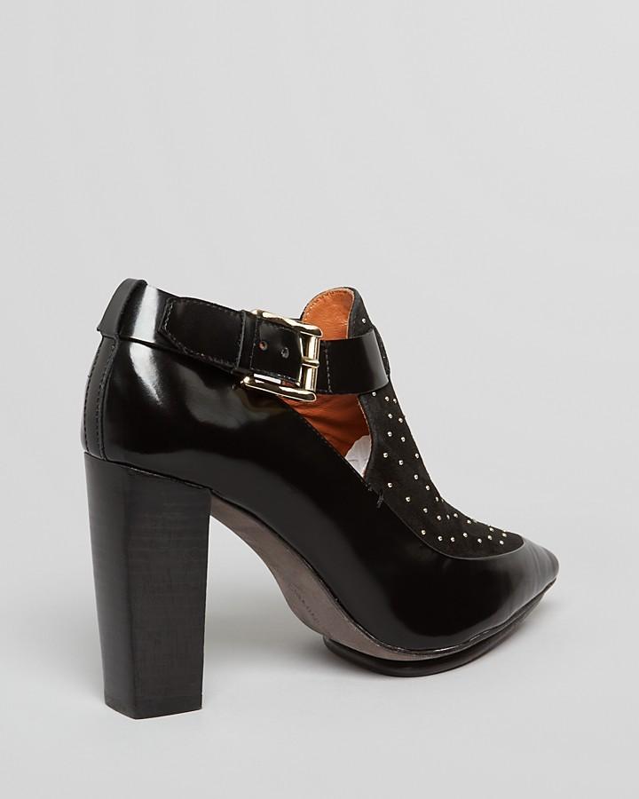 Rebecca Minkoff Pointed Toe Studded Booties - Gio Too High Heel