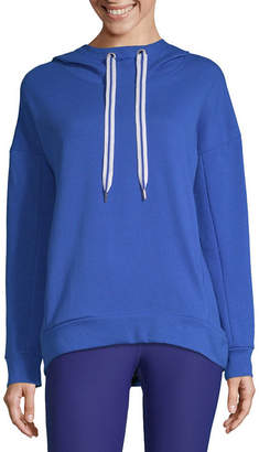 Xersion Hi Lo Pullover Hoodie Womens Hooded Neck Long Sleeve Sweatshirt