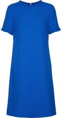 Goat Birdie Ruffle-Trimmed Wool-Crepe Dress