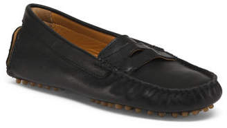 Made In Italy Penny Driver Leather Moccasins