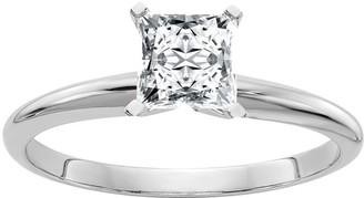Moissanite 1.00 cttw Princess Cut Solitaire Ring, 14K
