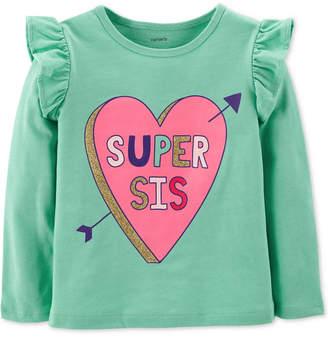 Carter's Baby Girls Super Sis-Print T-Shirt