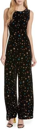 Ted Baker Colour by Numbers Ursa Metallic Star Detail Velvet Jumpsuit