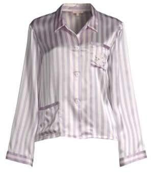 Morgan Lane Bunny Ruthie Silk Pajama Top