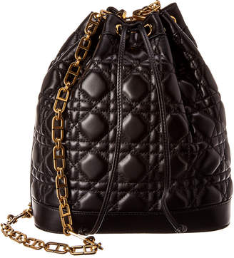 Christian Dior Large Miss Cannage Quilted Leather Bucket Bag