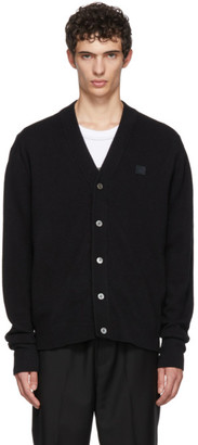 Acne Studios Black Neve Face Cardigan