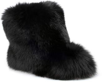 Jimmy Choo Dalton black fox fur boot