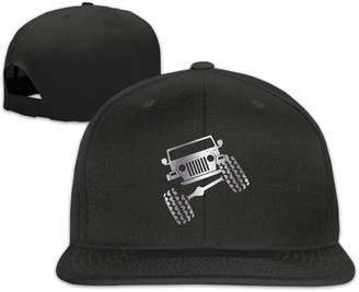 Wrangler Km6jki Jeep TJ Funny Viny Platinum Style Flat Billed Baseball Hat