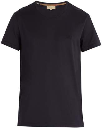 Burberry Logo-embroidered cotton-jersey T-shirt