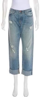 J Brand Sonny High-Rise Straight Leg Jeans